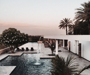 pool, house, and travel image