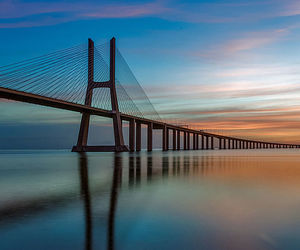 bridge, happy, and sea image