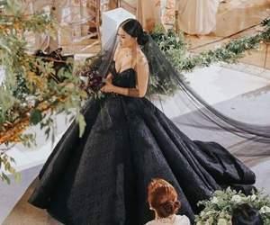 wedding, black, and dress image