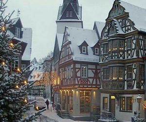 christmas, snow, and germany image