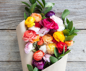 flowers, bouquet, and colors image