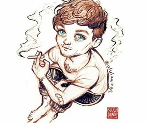 fanart, louis tomlinson, and art image