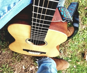 autumn, suede boots, and martin guitar image