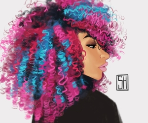 African, Afro, and art image