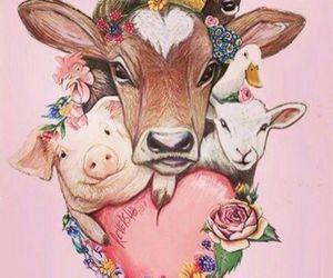 animal, vegan, and friends image