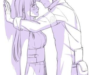 naruhina, anime, and naruto image