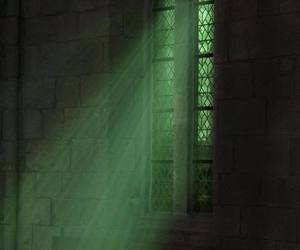 green, slytherin, and harry potter image