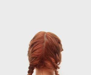 braids, hair, and red hair image