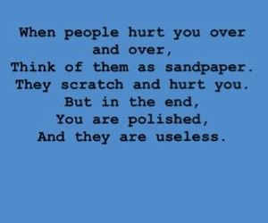 quotes, hurt, and Useless image