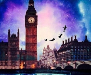 peter pan, disney, and london image