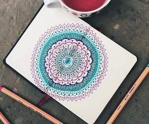mandala, draw, and drawing image