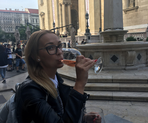 budapest, girl, and wine image