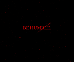 red, humble, and black image
