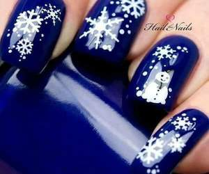 blue nails, nails, and colors image