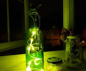 decor, green, and lights image