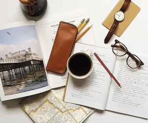 book, notebook, and office image