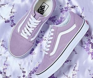 purple, vans, and white image