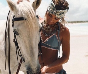 girl, horse, and photography image