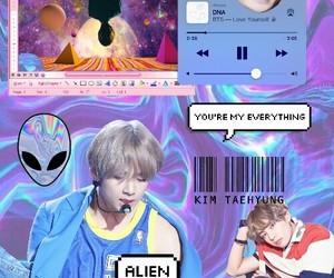 v, bts, and kim tae hyun image