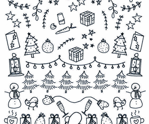 christmas, diy, and doodle image