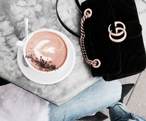 coffee, drink, and gucci image
