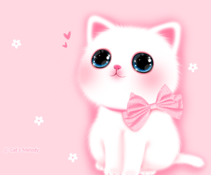 cat, kawaii, and background image