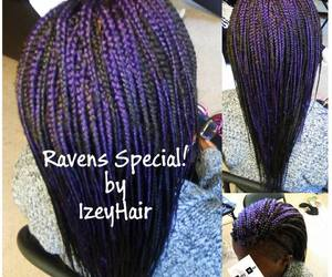 braids, baltimore ravens, and hair braiding image