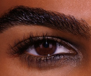 brown, eye, and eyebrows image