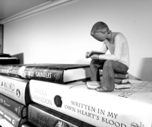 books, Moby, and willow tree image