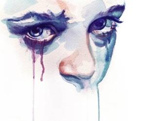 eyes, art, and sad image