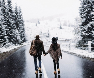 snow, winter, and love image