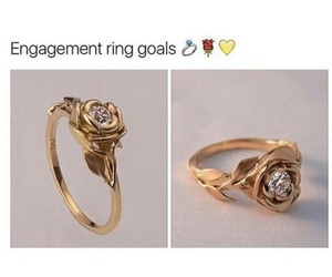 ring, rose, and goals image