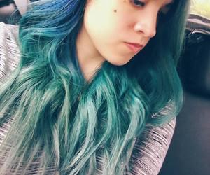 azul, blue hair, and green hair image