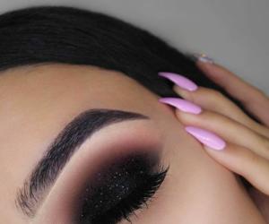 eye shadow, eyebrow goals, and girls image