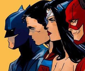 batman, bruce wayne, and clark kent image