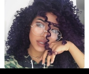 hair, glasses, and makeup image