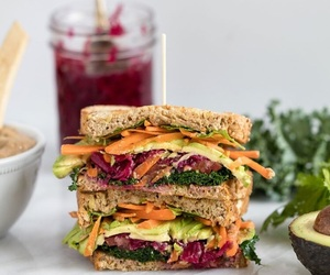 sandwich and vegan image