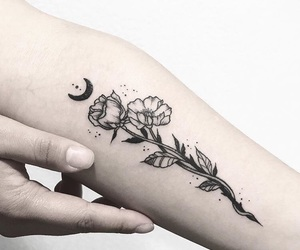 beautiful, flowers, and tattoo image