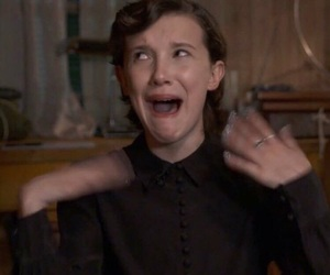 reaction, stranger things, and millie bobby brown image