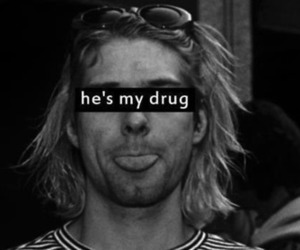 kurt cobain, nirvana, and drugs image