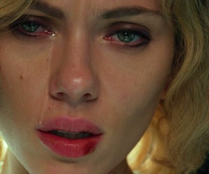 Scarlett Johansson, cry, and Lucy image