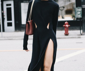 black dress, classy, and cut outs image