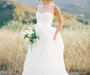 tulle, weddingdresses, and white image