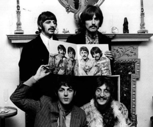 beatles, drums, and guitar image