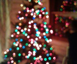 bedroom, tree, and christmas image