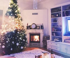 apartment, christmas tree, and cozy image