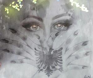 albanian, drawing, and girl image