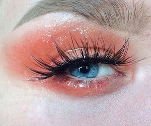 beauty, blue, and lashes image