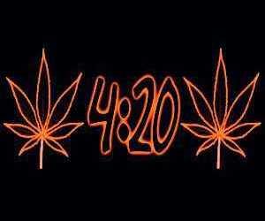 420, marijuana, and neon image