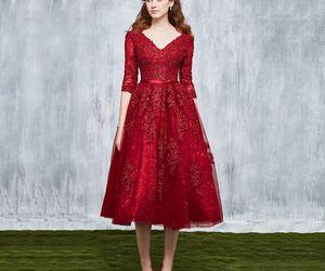beautiful, burgundy, and girl image